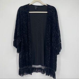 Torrid kimono plus size 1X top shirt cover up open